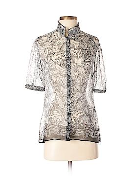 T Tahari Short Sleeve Silk Top Size M