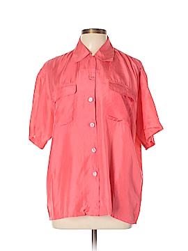Bogari Short Sleeve Silk Top Size M