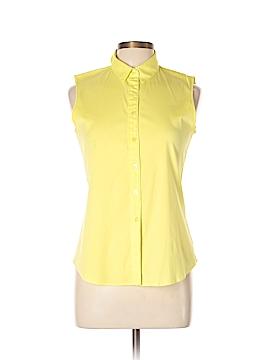 Theory Sleeveless Button-Down Shirt Size M