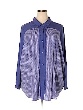 Denim Co Long Sleeve Blouse Size 30 (Plus)