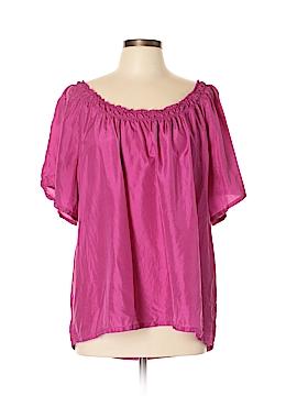 Covington Short Sleeve Silk Top Size XL