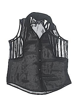 Fun & Flirt Sleeveless Button-Down Shirt Size L