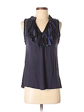 Gibson Sleeveless Silk Top Size M