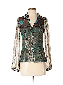 Nanette Lepore Long Sleeve Silk Top Size 2