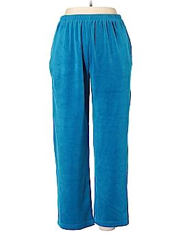 Draper's & Damon's Velour Pants Size XL (Petite)