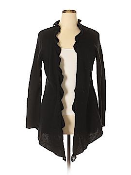 Vertical Design Wool Cardigan Size L