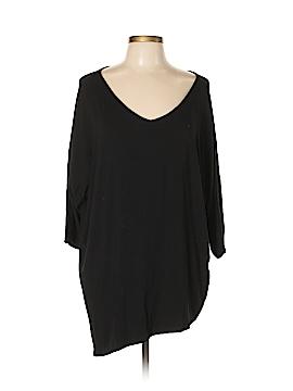 Joan Vass 3/4 Sleeve Top Size XL