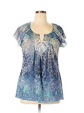 Miss Chievous Short Sleeve Blouse Size XL