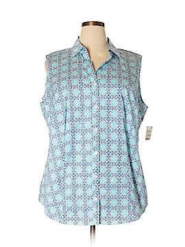 Charter Club Sleeveless Button-Down Shirt Size 22w (Plus)