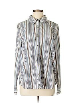 Denim & Co Long Sleeve Button-Down Shirt Size L