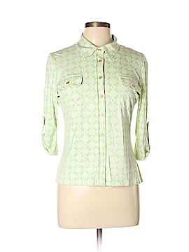 J. McLaughlin 3/4 Sleeve Silk Top Size L