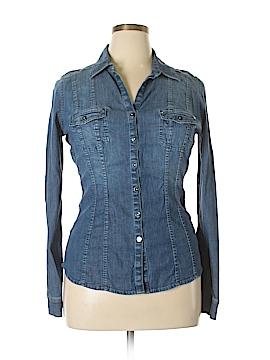 White House Black Market Long Sleeve Button-Down Shirt Size 10
