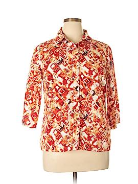 Breckenridge 3/4 Sleeve Button-Down Shirt Size L