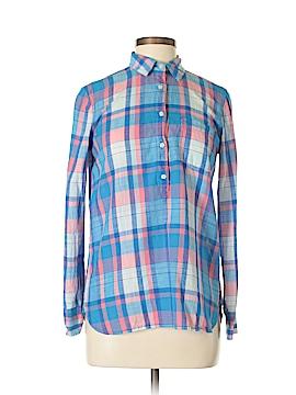 J. Crew For PIAMITA Long Sleeve Button-Down Shirt Size XXS