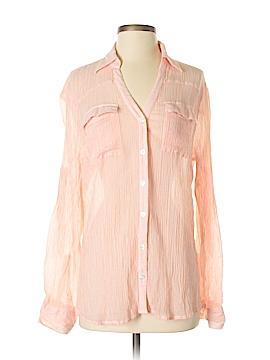New York & Company Long Sleeve Blouse Size L