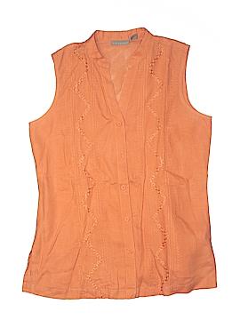 Kim Rogers Sleeveless Button-Down Shirt Size M