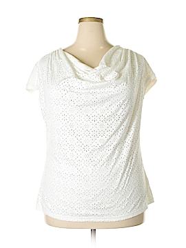INC International Concepts Short Sleeve Top Size 1X (Plus)