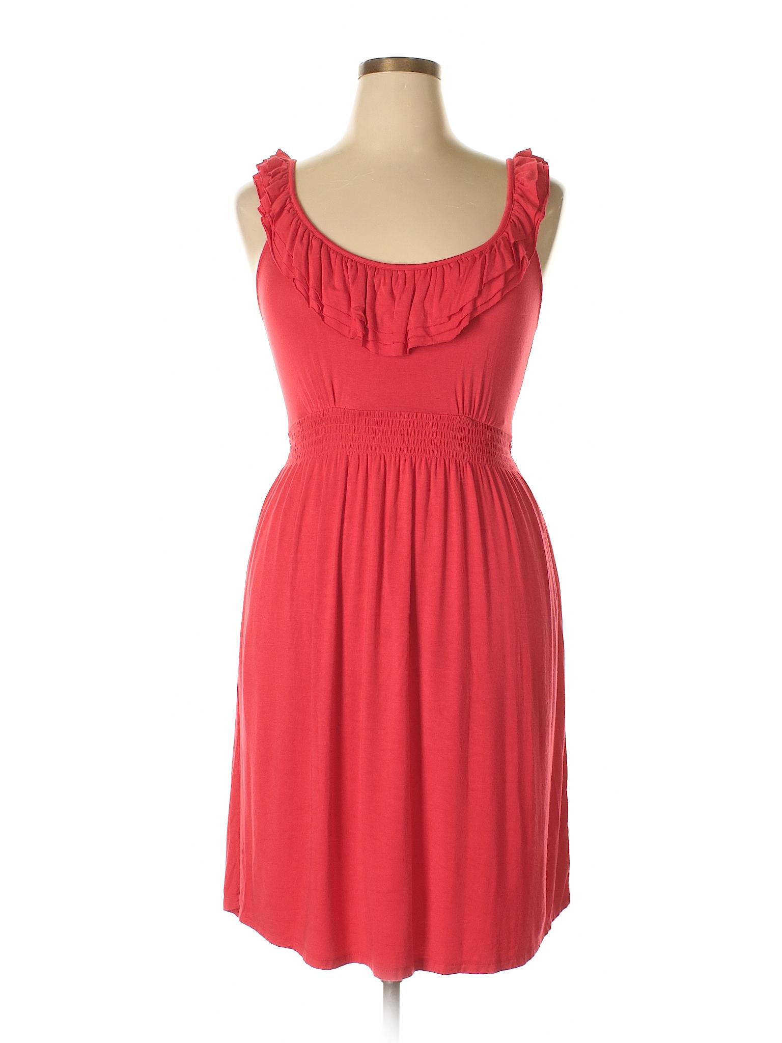 75b69753cff5 Charming Charlie Solid Orange Casual Dress Size L - 58% off | thredUP
