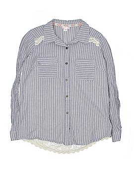 Xhilaration Long Sleeve Button-Down Shirt Size M