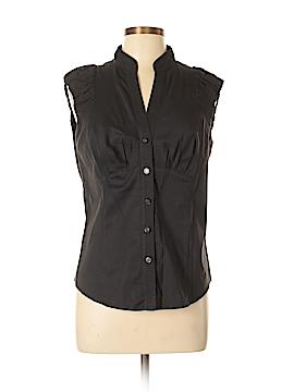 Etcetera Sleeveless Button-Down Shirt Size 10