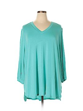 Melissa McCarthy Seven7 3/4 Sleeve T-Shirt Size 1X (Plus)