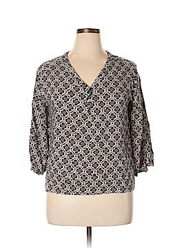 Valerie Bertinelli 3/4 Sleeve Blouse Size XL