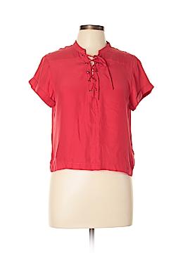 Frame Shirt London Los Angeles Short Sleeve Silk Top Size S