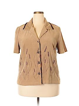 Ultra Dress Short Sleeve Blouse Size 18 (Plus)