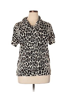 Chaus Short Sleeve Silk Top Size XL