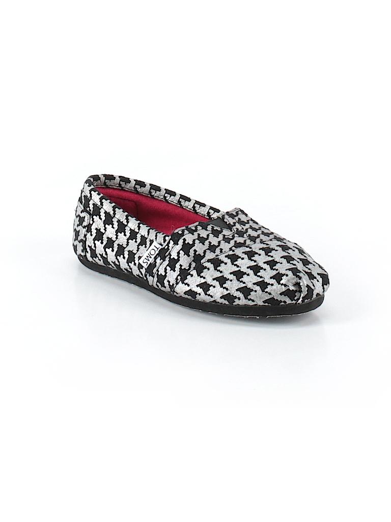 e7047eca4e1 TOMS Houndstooth Silver Flats Size 5 - 41% off