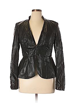 City Chic Faux Leather Jacket Size 12 Plus (XS) (Plus)
