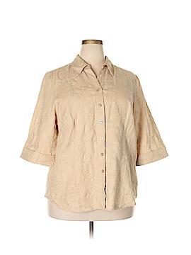 Kenar 3/4 Sleeve Blouse Size 2X (Plus)