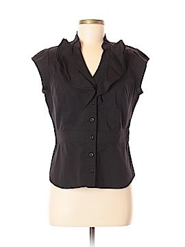 Anni Kuan Sleeveless Button-Down Shirt Size 8