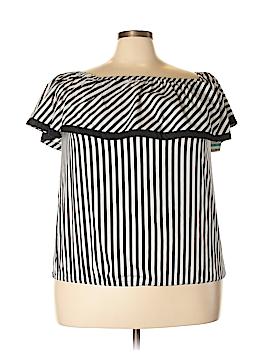 INC International Concepts Short Sleeve Button-Down Shirt Size 0X (Plus)