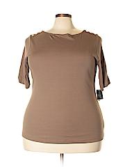 Karen Scott Women Short Sleeve Top Size 2X (Plus)