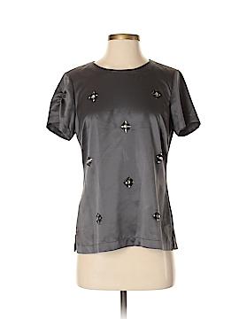Black Saks Fifth Avenue Short Sleeve Blouse Size XS