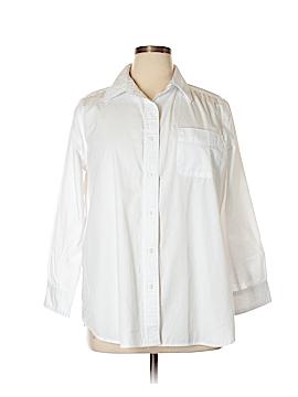 Roaman's 3/4 Sleeve Button-Down Shirt Size 16
