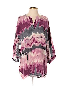 Dora Landa 3/4 Sleeve Silk Top Size XS