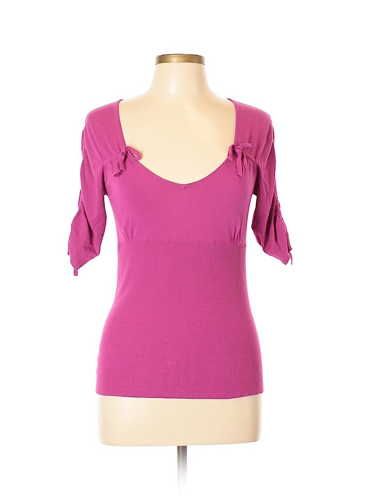 Nanette Lepore Women Short Sleeve Top Size L