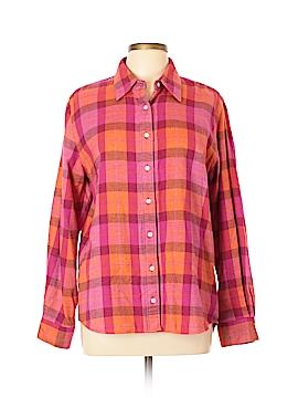Lands' End Long Sleeve Button-Down Shirt Size L