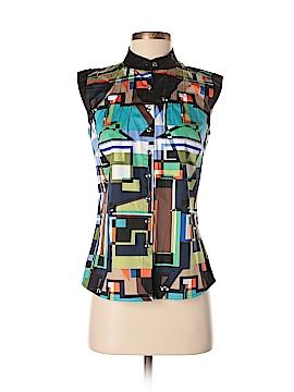 Etcetera Sleeveless Button-Down Shirt Size 2
