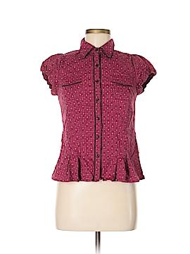 FANG Short Sleeve Button-Down Shirt Size M