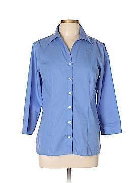 Lands' End 3/4 Sleeve Button-Down Shirt Size 10