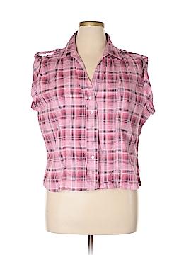Caren Sport Short Sleeve Button-Down Shirt Size 3X (Plus)