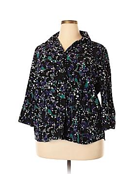 Scott Taylor 3/4 Sleeve Blouse Size 1X (Plus)