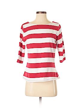 Allegra K 3/4 Sleeve T-Shirt Size M