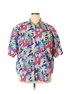 Cherokee Short Sleeve Button-Down Shirt Size 26 (Plus)