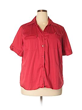 DressBarn Short Sleeve Button-Down Shirt Size 22 (Plus)