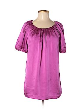Dialogue Short Sleeve Silk Top Size M