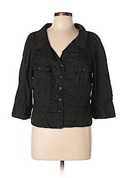Isaac Mizrahi 3/4 Sleeve Button-Down Shirt Size XL
